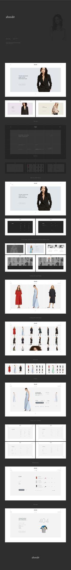 Great minimalist web design by Alex Yudin.
