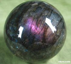 Labradorite Crystal Ball. After three years on my wish list, I finally brought home one of these babies for my healing space. Gorgeous!