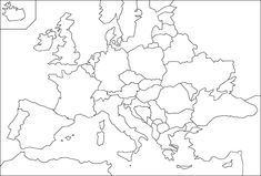 Fiumi Europei Cartina Muta.Cartina Muta Europa Cerca Con Google Geografia Mappe Carte Geografiche