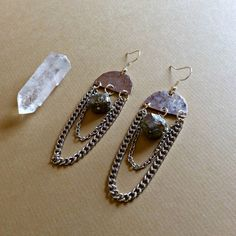 Fool's Gold pyrite Dangles by WildcraftJewels on Etsy, $15.00