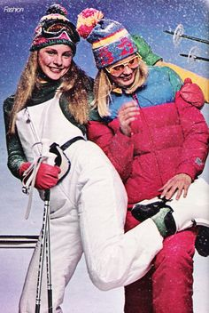 November 'Snow-white bib-front overalls with storm cuffs, an elastic-backed waistband for extra stretch. Ski Fashion, Teen Fashion, Fashion Beauty, Fashion Trends, Dungarees, Overalls, Ski Posters, Winter Suit, Magazine Images