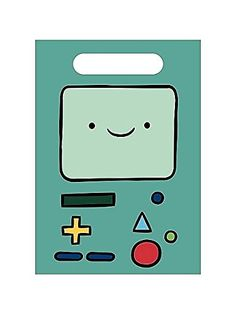 Adventure Time loot bags that looks like BMO. These party favor bags are great to have for your Adventure Time birthday party. Adventure Time Birthday Party, Adventure Time Cakes, Adventure Time Parties, Loot Bags, Party Favor Bags, Open A Party, Black Friday Toy Deals, Party Treats, Treat Bags
