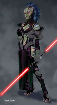 Here's the original concept piece that was submitted for Darth Phobos. Actually there were 5 or 6 different variations that were submitted first then I cleaned up the color version that LucasArts l. Star Wars Jedi, Star Wars Mädchen, Star Wars Girls, Disney Star Wars, Images Star Wars, Star Wars Characters Pictures, Star Wars Collection, Female Sith, Female Armor