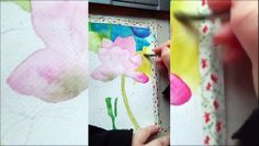 Watercolors, Watercolor Paintings, Original Paintings, Painting Courses, Facebook Art, Painting Process, Painting Tutorials, Art Pages, Hibiscus