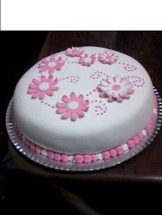 tortas decoradas - Buscar con Google Fondant Cakes, Cupcake Cakes, 8th Birthday Cake, Cakes Plus, Valentine Cake, Buttercream Flowers, Cute Cakes, Royal Icing, Let Them Eat Cake