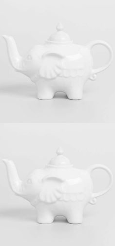 These  White Ceramic Teapots have a white glaze finish and a stroke of Asian  flare. An ideal choice for tea lovers!!! Great for brewing and serving hot tea for one or a group at teatime. #shopping #love #teaparty #giftsforher #elephant #giftideas #holidaygifts