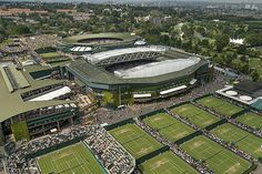 Aerial view of The Grounds at Wimbledon