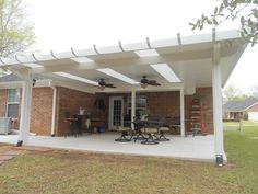 Insulated Patio Cover with Skylights and Ceiling fans