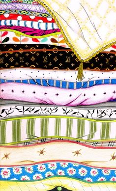 The Princess & the Pea (Hans Christian Andersen) Princess Alice, Princess And The Pea, Hans Christian, Tangle Patterns, Print Patterns, Artists For Kids, Strip Quilts, Classic Books, Quilting Projects