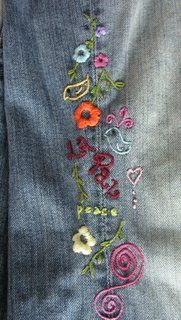 embroidered pants---did a lot of this in the70's----Cherokee Triangle days
