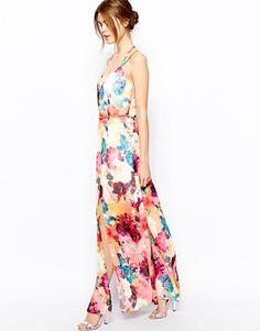 2421d1989e Enlarge Warehouse Rose Printed Maxi Dress Coming Up Roses