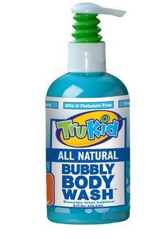 TruKid Bubbly Body Wash 8 oz by Tru Kid. $8.99. After a busy day of school or play, give your body a bubbly wash at the end of the day! Our Bubbly Body Wash has an uplifting aroma in a mild coconut derived cleanser. This is a mild, safe cleanser for skin that effectively removes surface oil, and dirt without stripping or drying sensitive skin. Bubble your way through the end of the day! 8oz. bottle.