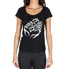 Scorpion Tattoo Black, Gift Tshirt, Black Women's T-shirt