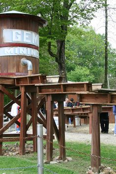 Gemstone mining at Perry's Cave Family Fun Center, Put-in-Bay Ohio