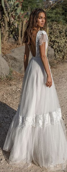 asaf dadush 2018 bridal short butterfly sleeves deep v neck heavily embellished bodice bohemian a line wedding dress low open back sweep train bv -- Asaf Dadush 2018 Wedding Dresses Bohemian Wedding Dresses, Dream Wedding Dresses, Bridal Dresses, Wedding Gowns, Wedding Bride, Wedding Rustic, Mode Gipsy, Trendy Wedding, Wedding Styles