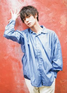 Denim Button Up, Button Up Shirts, Japanese Boy, Kubota, Pose Reference, Poses, Actors, Hair, Beautiful