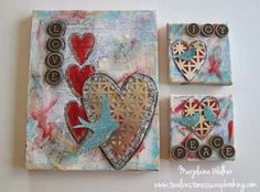 Mixed Media Canvas with Metal Embellishment | Marjolaine Walker