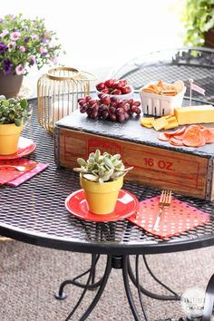Host a fabulous Cheese Party for Two! Such a fun idea for summer.