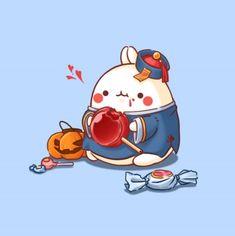 호박몰랑 & 강시몰랑 : 네이버 블로그 Chibi Kawaii, Kawaii Doodles, Cute Chibi, Kawaii Art, Cute Animal Drawings, Kawaii Drawings, Cute Drawings, Pikachu Pikachu, Images Kawaii