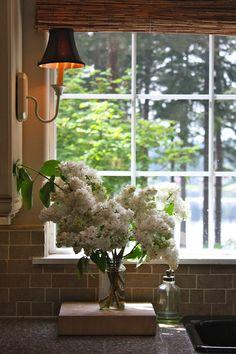 sconce lighting.... to flank kitchen sink window