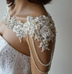 Lace Shoulder Necklace Ivory Pearl and Lace Wedding Shoulder Jewelry Wedding Dress Shoulder Bridal Shoulder Necklace Jewelry For Bride Shoulder Jewelry, Shoulder Necklace, Pearl And Lace, Ivory Pearl, Bridesmaid Earrings, Wedding Earrings, Wedding Jewelry, Lace Wedding, Wedding Decor