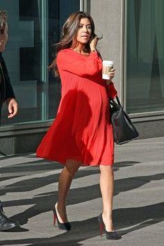 Kourtney Kardashian....I hope whenever I'm pregnant, I look adorable as her!!!