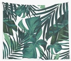 """Tropical Jungle Leaves Pattern #1 #tropical #decor #art"" Wall Tapestries by anitabellajantz 