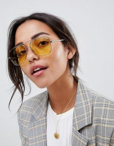 738df64da5c5 Marc Jacobs | Marc Jacobs aviator sunglasses with yellow lens Mirrored  Sunglasses, Marc Jacobs,