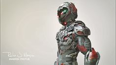 A New Series of suits im creating, Called the Hawks Created in Zbrush Rendered in Keyshot Post Photoshop