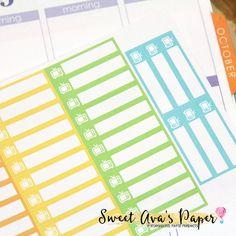 TV Skinny Tab Planner Stickers / TV Planner by SweetAvasPaper