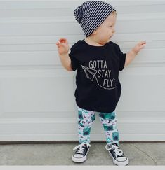 Gotta stay fly, trendy boy clothes, hipster baby clothes, origami airplane, unisex tee, clothes, shirt, toddler boy, girl clothes, tee by Our5loves on Etsy