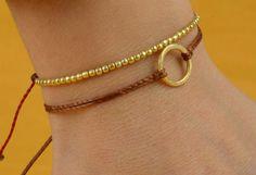 15 cm eternity circle gold Karma bracelet por zzaval en Etsy