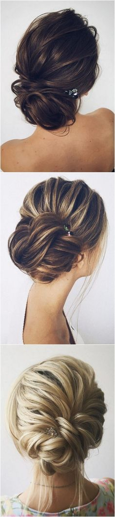 fishtail updo wedding hairstyles with hairpins #weddinghairstyles