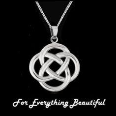 Celtic Infinity Knotwork Design Sterling Silver Pendant