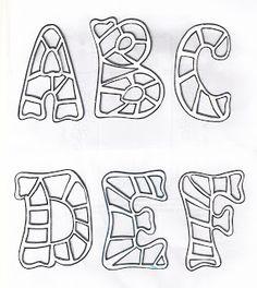 Mis moldes y mas.: LETRAS DE ABC,