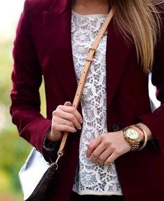 Cute burgundy blazer