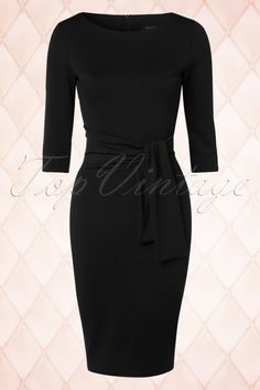 Collectif Clothing Black Long Sleeves Pencil Dress 100 31 18949 20160418 0005W