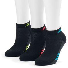 Women's Adidas 3-pk. Superlite Low-Cut Socks ($14) ❤ liked on Polyvore featuring intimates, hosiery, socks, black, low cut socks, adidas and adidas socks