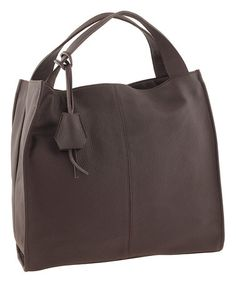 Another great find on #zulily! Taupe Square Leather Tote #zulilyfinds