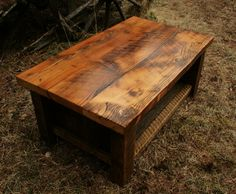 If this old barn wood coffee table were taller wider and longer