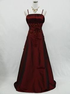 Plus+Size+burgundy+Bridesmaid+Dresses | CHERLONE Plus Size Satin Burgundy Long Ball Gown Wedding Evening Dress ...
