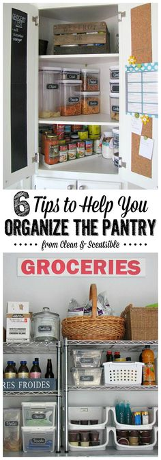Practical ideas to organize any pantry space. // cleanandscentsible.com