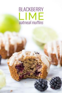 BLACKBERRY LIME OATMEAL MUFFINS -- healthy, delicious and so flavorful ...