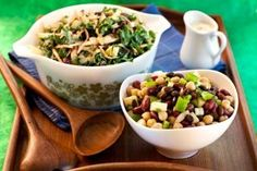 Kale-slaw with Curried Almond Dressing