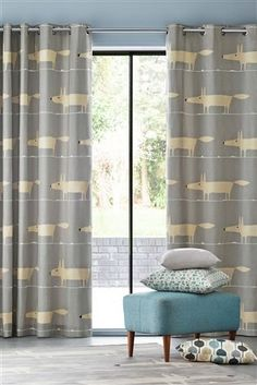 Buy Scion Mr Fox Silver Eyelet Curtains from the Next UK online shop