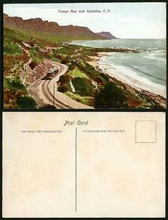 South Africa Old Colour Postcard CAMPS BAY and APOSTLES C.P. TRAM Tramway, Beach   eBay