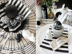 Tischdekoration-in-schwarz-weiß
