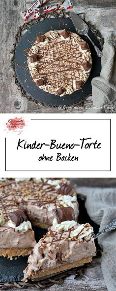 Kinder-Bueno-Torte ohne Backen Children& Bueno cake without baking & Cake & Recipe & eat The post Children& Bueno cake without baking & Rezepte appeared first on Kuchen. Peanut Butter Dessert Recipes, Dessert Recipes For Kids, Easy Desserts, Cake Recipes, Elegant Desserts, Desserts With Chocolate Chips, Chocolate Chip Recipes, Cake Chocolate, Dessert Simple
