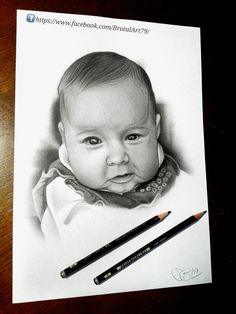 Baby Portrait Drawing