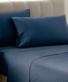 Loving this Navy Dylan Embossed Sheet Set on #zulily! #zulilyfinds